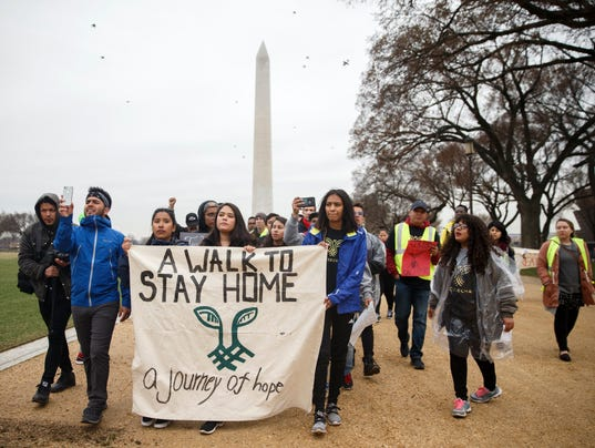Dreamers protest at the National Mall on March 1, 2018.