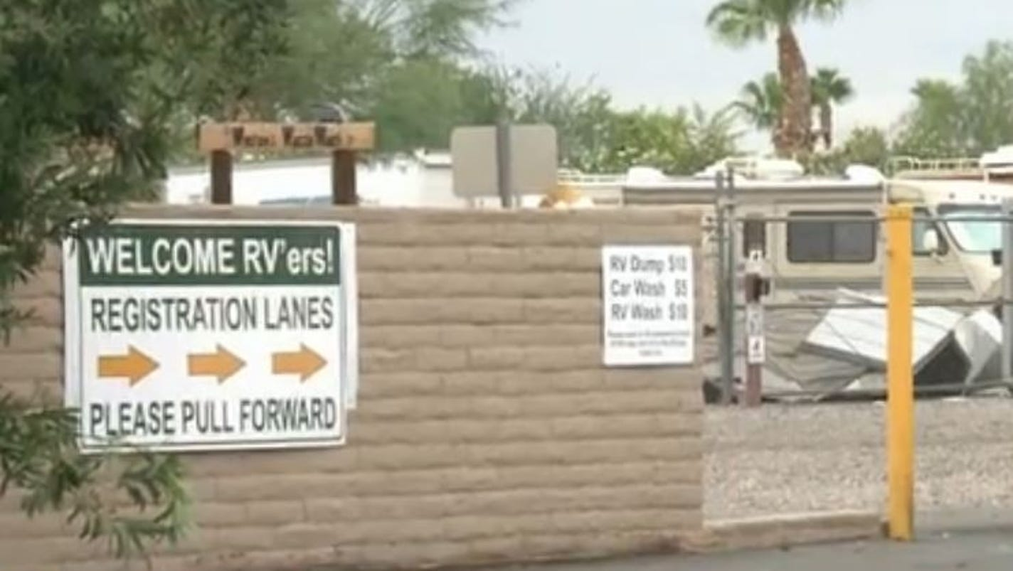 Strong Winds Damage Buckeye RV Park Injure Three