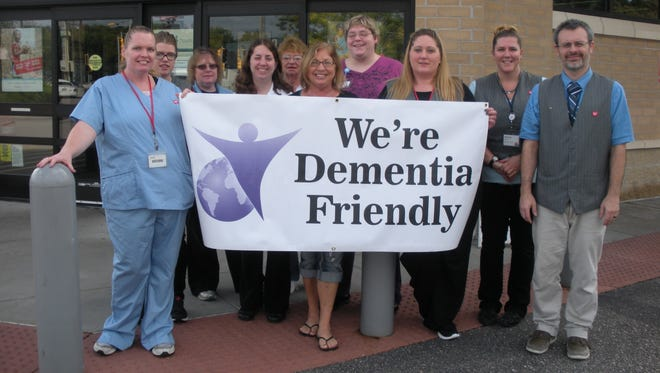 """Staff members at Walgreens recently participated in training that focused on meeting the needs of people with memory loss, Alzheimer's disease and other forms of dementia. They are the first business in Wisconsin Rapids to participate in the """"dementia friendly"""" training offered by the Central Wisconsin Dementia Network."""