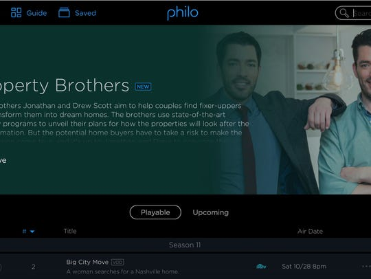 A screen shot from new subscription streaming TV service