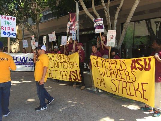 Olympus protest