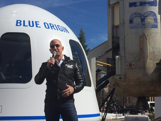 Image result for jeff bezos blue origin
