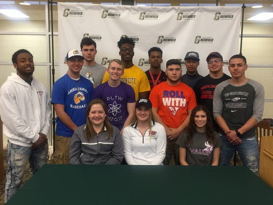 Greenfield signees