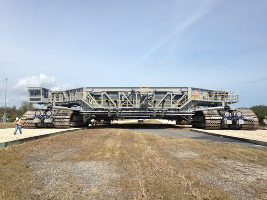NASA tests upgraded crawler-transporter at KSC