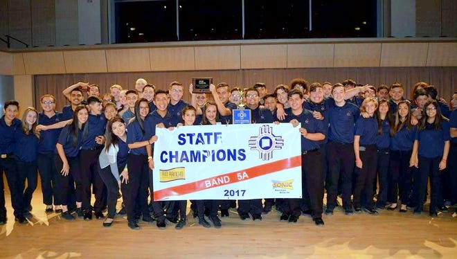 The 2017 Class 5A State Championship Band. Deming High student musicians accepted the award during state competition Saturday in Rio Rancho, NM