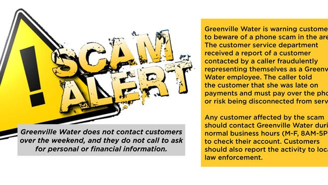 Greenville Water is warning customers of a phone scam.