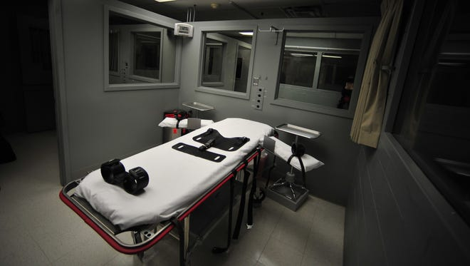 The execution room at the Oregon State Penitentiary in 2011.