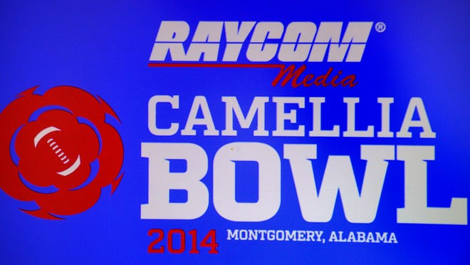 The Camellia Bowl announced their title sponsor as Raycom Media at a gathering in Montgomery, Ala. on Wednesday October 30, 2013. (Mickey Welsh / Montgomery Advertiser)