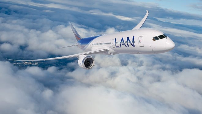 An undated image of LAN's Boeing 787-9 Dreamliner.