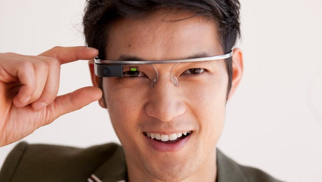 Actor Harry Shum, Jr. with his Google Glass