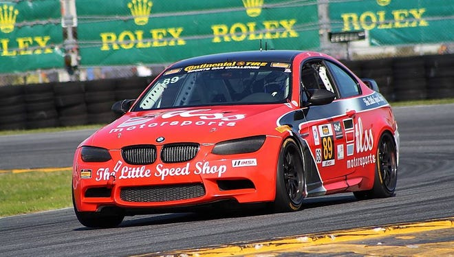 The Little Speed Shop Motorsports team's BMW M3 will race on the Daytona International Speedway in Florida on Friday.