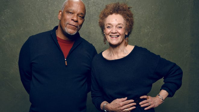 "Director/writer/producer Stanley Nelson and  Kathleen Cleaver of ""The Black Panthers: Vanguard of the Revolution."""