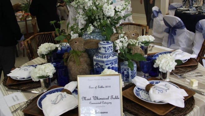 Tablescapes from 2014 Tour of Tables.