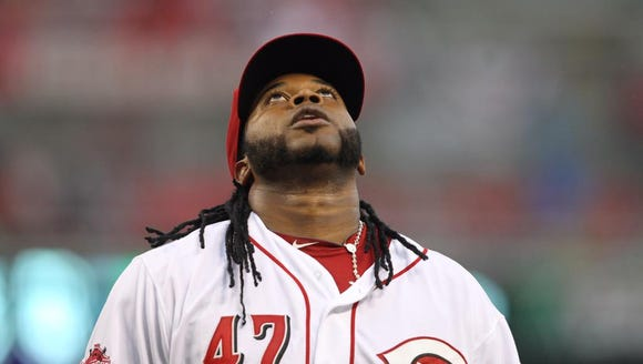 Reds pitcher Johnny Cueto recorded his 1,000th career