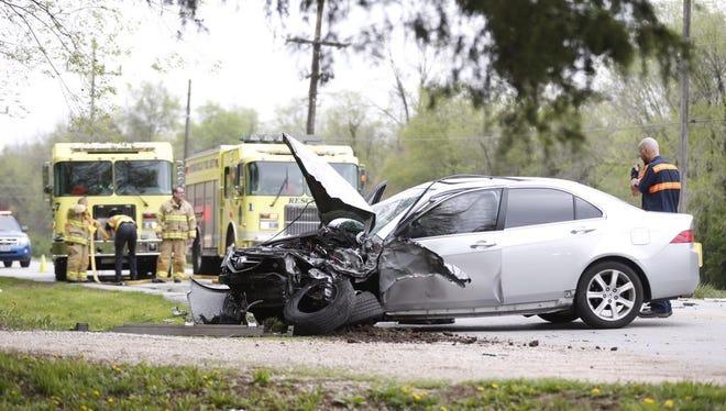 Crash on Lone Pine Avenue