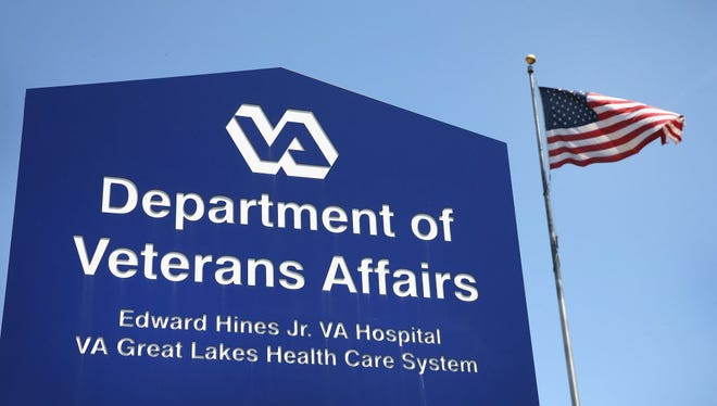 A sign marks the entrance to the Edward Hines Jr. VA Hospital on May 30, 2014, in Hines, Ill.