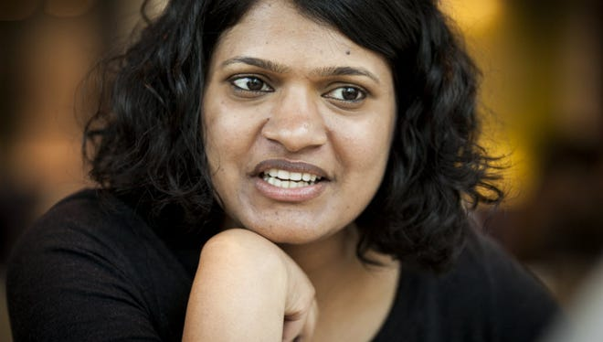 Google employee Aruna Kommu spends 20% of her time on diversity projects at Google through a program called Diversity Core. She is photographed at Google's Tech Corners campus in Sunnyvale, CA on Monday, April 27, 2015. --