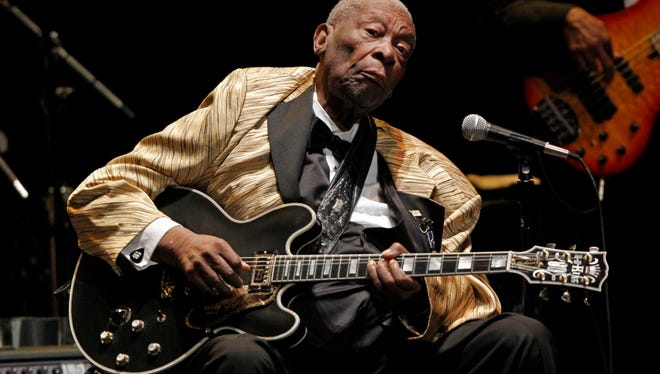 Blues legend B.B. King performs in concert at the Tennessee Theater in Knoxville on May 27, 2014