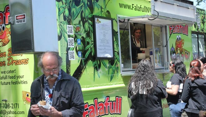 The Falafull Food Truck is on the scene.