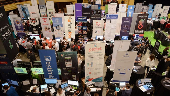 General atmosphere during TechCrunch Disrupt NY conference  in May.