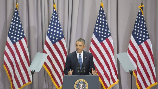 President Barack Obama delivers a speech on the nuclear deal with Iran at American University in Washington DC,  August 5, 2015.
