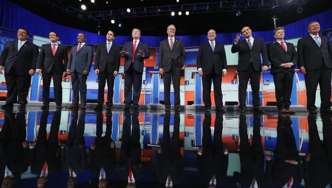 Republican presidential debate in Cleveland on Aug. 6, 2015.