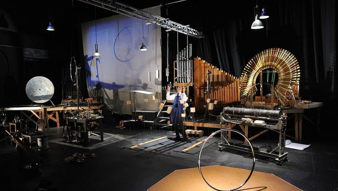 Interact with instruments and sounds in Paul Dresher's Sound Maze at OZ Arts Nashville.