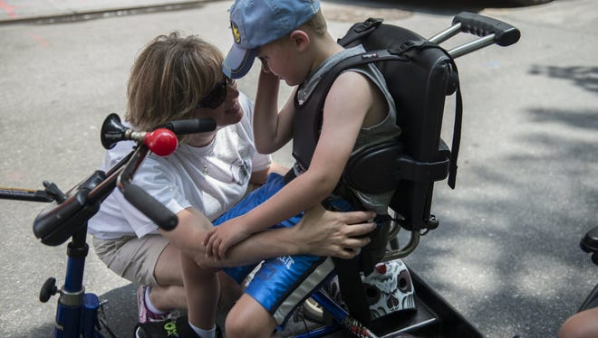 First annual Disability Pride Parade on July 12, 2015 in New York City.