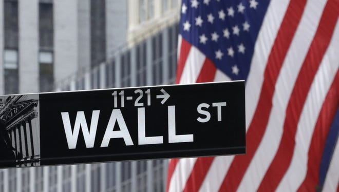 A sign near the New York Stock Exchange on July 6, 2015.