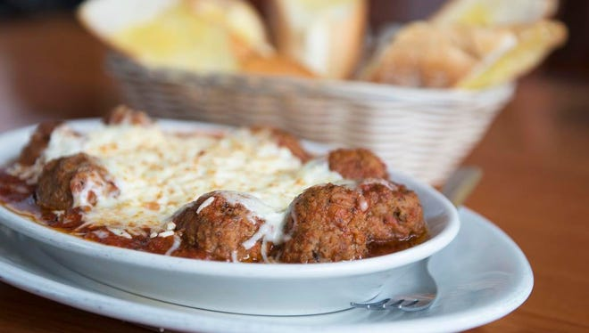 The Greek Meatballs with garlic bread at the Apollo Flame Bistro located at 485 Hendersonville Rd. in Asheville.