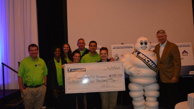 Michelin raised a record $682K during its annual charity golf tournament.