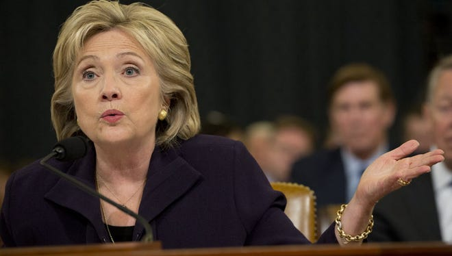 Hillary Clinton at the Benghazi hearing on Oct. 22.