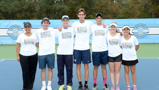 The Southwest Blue Shells, an El Paso intermediate junior tennis team, finished fifth at the 2015 Junior Team Tennis 18U Intermediate National Championships. The team includes Andrea Andujo, Carlos Cardenas, Jaime Ramos, Juan Hobbs, Kendall McBeth, Megan Greene and Travis Fortune. The tournament was played at the Cayce Tennis Center in Cayce, S.C., on Oct. 22-25.