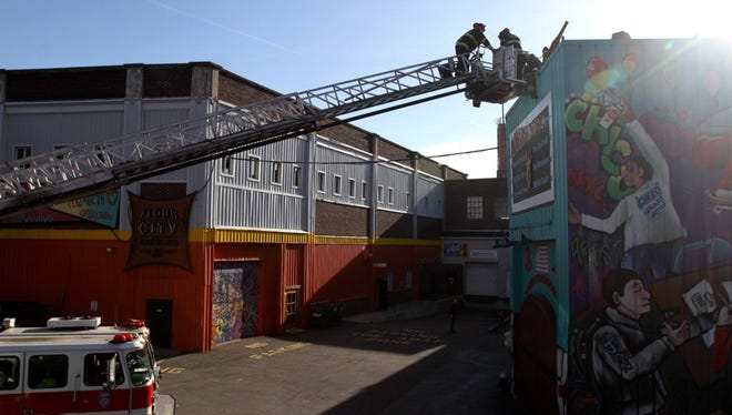 A fire at Artisan Works was reported Tuesday afternoon.