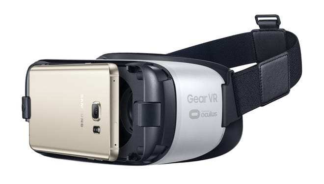 Samsung's Gear VR Powered by Oculus is a $99 ticket to a sophisticated virtual reality experience that includes games, videos and meet-ups with dinosaurs.