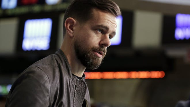 Square  and Twitter CEO Jack Dorsey is interviewed on the floor of the New York Stock Exchange last week.