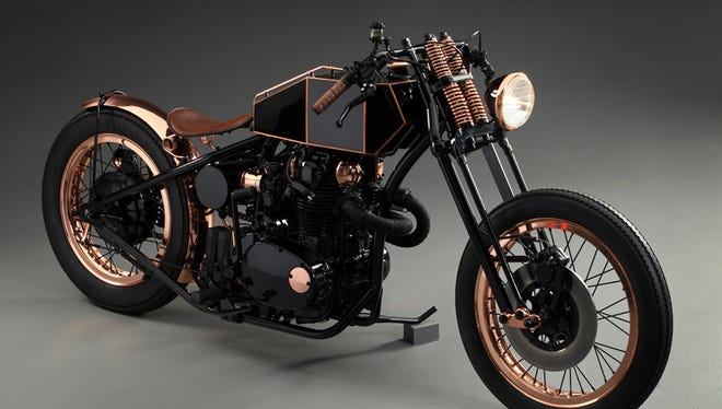 A custom motorcycle built by Retrospeed in Belgium is featured in the 2016 Snap-on calendar.