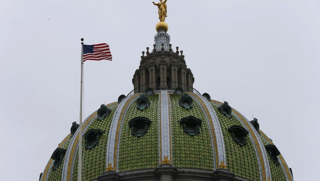 The Pa. state Capitol.