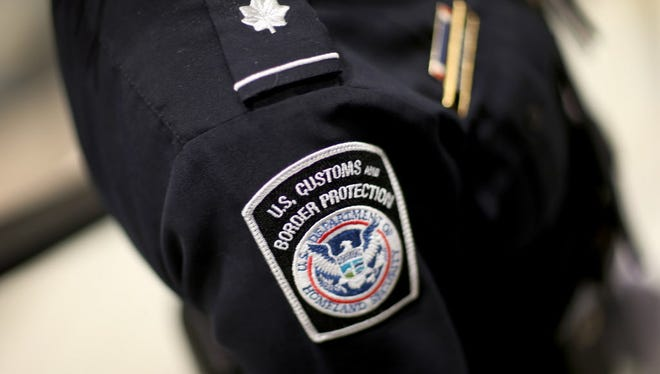 U.S. Customs and Border Protection officer's patch is seen March 4, 2015.