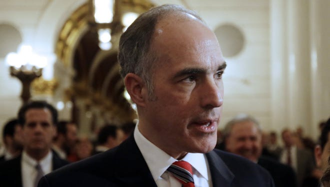 U.S. Sen. Bob Casey was in York for a press conference with Mayor Kim Bracey and Police Chief Wes Kahley for a press conference in support of funding for federal law enforcement grant programs that have benefited York and other municipalities.