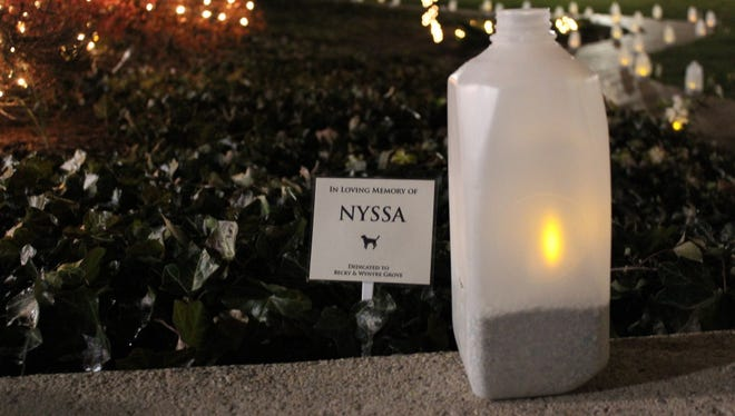 The York County SPCA's Luminary Festival is set for Saturday evening, Dec. 19, 2015.