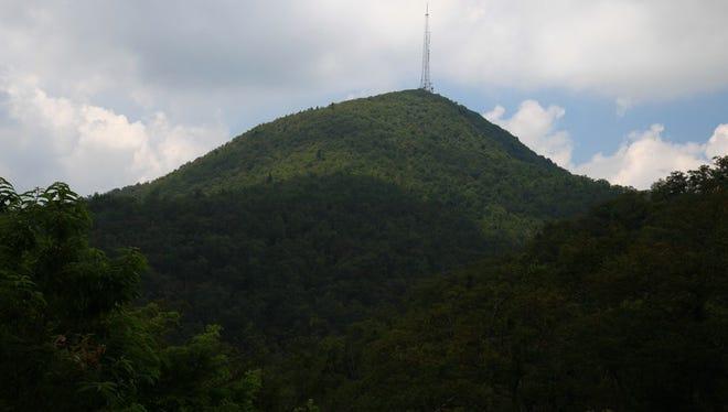The tower atop Mount Pisgah.