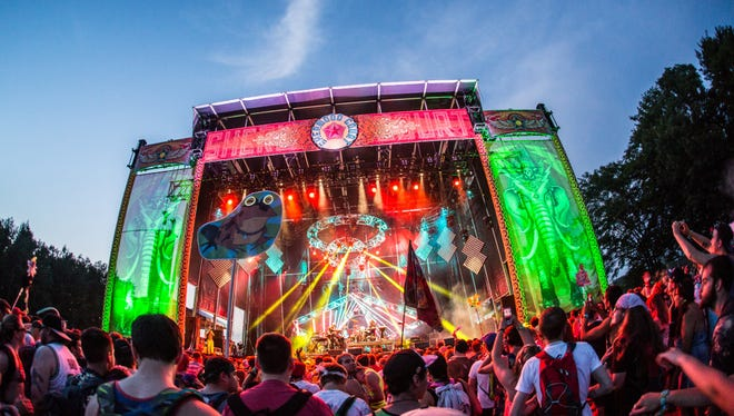 Scene from the Electric Forest festival.