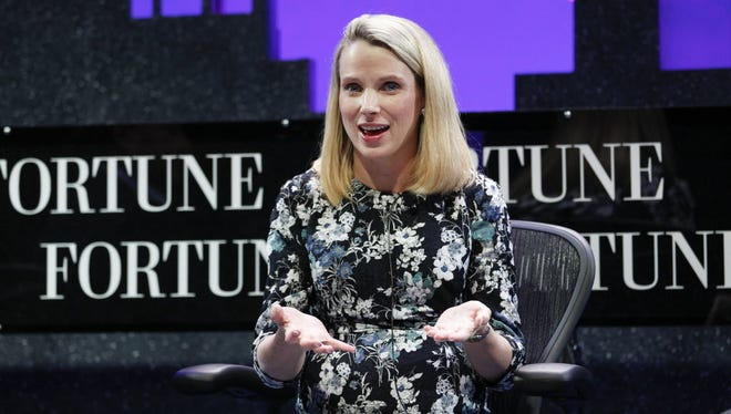 Yahoo CEO Marissa Mayer speaks during the Fortune Global Forum in November 2015.