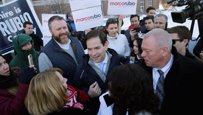 Marco Rubio campaigns in Manchester, N.H., on Feb. 9, 2016.