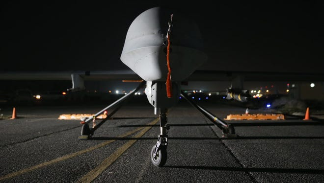 A U.S. Air Force Predator drone at a Persian Gulf base in January 2016.