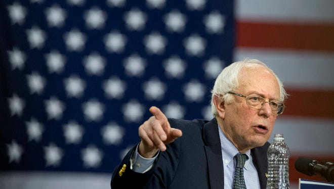 Democratic presidential candidate Sen. Bernie Sanders, I-Vt., speaks during a campaign rally at Chicago State University in Chicago.