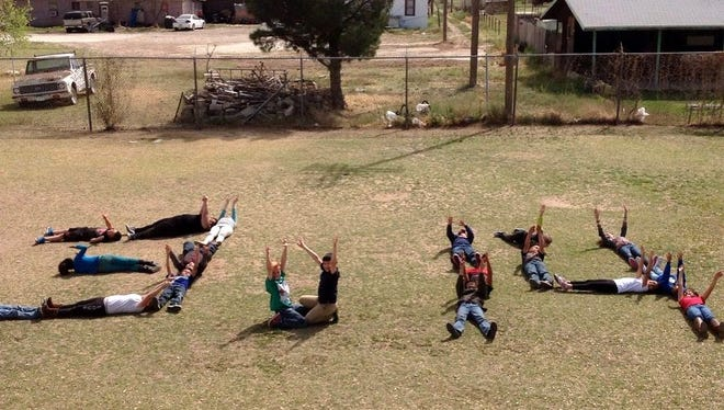 Craft Elementary students spelled out the first three digits of pi as part of their Pi Day celebration.