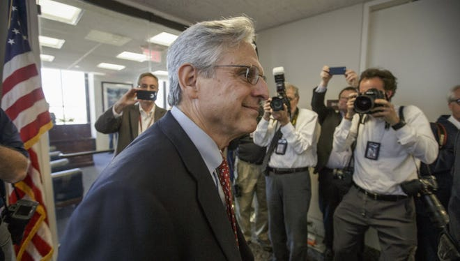 Supreme Court nominee Merrick Garland on Capitol Hill on March 29, 2016.
