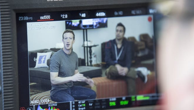 Facebook CEO Mark Zuckerberg photographed at an event at Facebook's Menlo Park, Calif., headquarters in Menlo Park, Calif., in February.